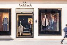 Boutiques De Fursac / De Fursac Stores / French menswear brand where elegant casuals, formal attire and evening wear stylishly coexist.  http://www.defursac.fr  All pictures of the stores by Cyrille Robin