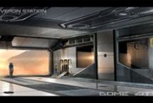 Dome City - Concept Arts / Early sketches and concept arts of our upcoming thrilling sci-fi adventure in an abandoned dome city on Mars.
