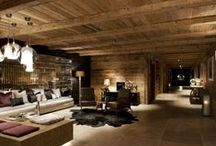 Mountain chalets / A gorgeous selection of mountain chalet interiors. These cosy alpine interiors show that mountain homes aren't always hansel and Gretel twee but can also be elegant, luxurious, contemporary and cosy with an abundance of wood, stone, animal skins and luxe fabrics for maximum comfort and style.