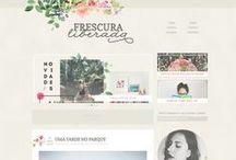 Web Design - romântico / Inspire-se nesses layouts românticos e florais pra criar o seu!
