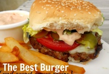 Burgers & Fries / Beef, Bison, Turkey, Taco, Black Bean, Salmon,Veggie, Sloppy, Mini... Love Them Burgers!(And FRIES) / by Kismet D
