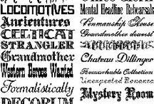 Fonts / Wonderful letter designs