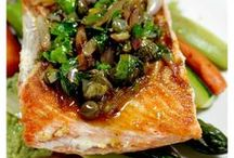 Fish / Seafood... It's what's for dinner! Find some quick and easy seafood recipes to whip together that are low calorie and good!