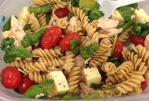 Salads / There are lots of different green salad recipes and fun salad concoctions can be found on this board.