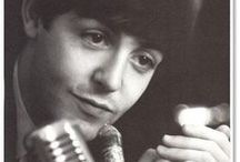 Fab Four: Paul McCartney / Sir James Paul McCartney (b. 1942) is an English singer, multi-instrumentalist, and composer who gained worldwide fame as a member of the Beatles, and as half of one of the most celebrated songwriting partnerships of the 20th C. After the band's break-up, he pursued a solo career and formed Wings, and has been recognized as one of the most successful composers and performers of all time. / by Duena DeSiner