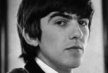 Fab Four: George Harrison / George Harrison (1943-2001) was an English musician, multi-instrumentalist, singer and songwriter who achieved international fame as the lead guitarist of the Beatles. He was a music and film producer as well as a musician, and released several best-selling singles and albums as a solo performer. / by Duena DeSiner