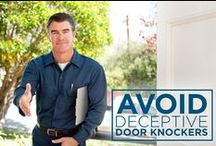 """Tips to Avoid Deceptive Door Knockers / Be extremely cautious if someone shows up at your door without valid Protection 1 credentials—even if they identify themselves as a Protection 1 employee or claim to have """"important"""" information about Protection 1.  Here are few tips to follow!"""