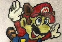 Perlers - Super Mario / by Christy Jorewicz Kerby