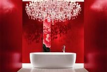 Red Hot Bathroom Design