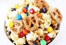 Recipes-Treats / Treats created with popcorn, pretzels, cerals, ect....