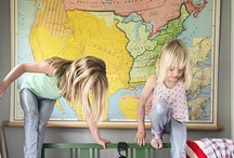 {Inspiration} Maps for kids rooms