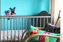 {Nursery} Blue rooms @UrbanBaby / Blue rooms are gorgeous for boys and girls.  Soft blue with white, navy with grey, fabrics or feature wallpapers, there are so many ways to use blue.