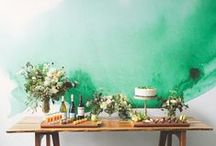 Love my job - watercolor walls