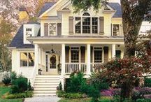HoUse EnVy / I am drawn to houses with character & charm. I have always loved the houses with porches & lots of windows...