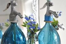 BoTTleS & JarS / I love decorating with bottles & jars!!   From cooking oils, flowers, rocks, shells, to baths salts, The use is endless!