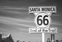 Route 66, Oregon Trail and Trail to Nowhere. / Took this route 66 trip a couple of times with my parents in the 60's from Santa Monica to Tulsa.  Would love to take it again. Take The Oregon Tail, which my grandmothers family took in a covered wagon. We need to find us a 60's car, truck or trailer to make this trip perfect. / by Janis Sorenson