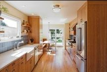 NOW Kitchen Wood Cabinets and Floors / by Julia A.