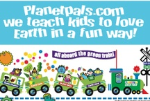 """Meet the Planetpals! / Not just another group of green characters!  Planetpals is the only character set of it's kind. Planetpals Characters are a unique and innovative way to encourage kids to learn about their world. They inspire and enlighten kids with delightful slogans, fun facts and innovative activities. Each character has a specialty and comes with it's own educational rhyme. Their motto """"Healthy Planet, Healthy Kids"""" encourages kids to """"Be healthy inside and out"""" and """"Be a friend to Earth"""""""