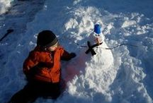 Green Ideas For Winter / Snow much fun! Eco friendly - natural and recycle crafts, ideas, tips and activities for Winter, Winter Holidays, Snowy Days, Cold Weather, Winter Decor