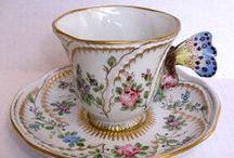 Antique & Vintage Tea Cups / My favorite antique & vintage tea cups...mostly English chintz!