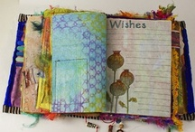Art Journals and Scrapbooking / Use-reuse-recreate-recycled materials make lovely additions to journals and scrapbooks.  Be creative.  Use materials from recent trips, parties and special events to adorn your pages. add cards, doodles, art, giftwrap, fabrics, buttons, tickets, clippings, momentos...the sky is the limit.