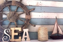Beachy Keen / Nautical decor thats Beachy Keen! Upcycle, Recycle and Natural DIY decorating ideas For the beach house, cottage, cabin. Creative summer patios, furniture, tabletop and signs. Oceanside Ohs!