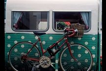 Upcycled RVs & Campers / What's old is new with a little diy, clever ideas, paint, fabric and vintage upcycling make On the road GLAMPING in style. #Rvs #Travel Trailers #Caravans #VWBusses #Camperlife.  DIY Upcycle, recycle, and repurpose Planetpals Way!