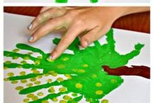 Handprint Art / A variety of creative solutions using handprint, fingerprint and footprint as art for holidays and everyday. preschool. elementary. family fun.