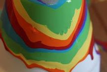 Rainbow Fun / Rainbow foor and recycle crafts.  Rainbows for Love, Peace, Holidays and Everyday (St. Patricks Day)