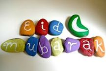 Green Eid Ramadan / Eco friendly Ideas and crafts for Eid and Ramadan.  Moslem holidays and islamic celebrations.  Mosque, sheep, lamb and henna crafts