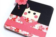 Green Hinamatsuri / Green Japanese Holiday and festival crafts. Hionamatsuri, Koinabori, more. Kokeshi Carp Fan Doll Kimono Recycle crafts.