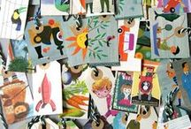 Greeting Card Recycle / Ideas for recycling Greeting Cards. Greeting Card crafts and up cycle ideas. Any holiday.  Christmas cards.  Valentines Cards. Birthday Cards.