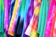 Tie Dye / Tie Dye Patterns and Ideas. Use color dye, sharpies, food coloring, paints to make tie die clothing, decor, more.  It's a great weay to recycle clothing and fabric, too.