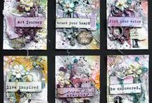 Artist Trading Cards / ATC's -little pieces of creative artwork to swap with like-minded crafty people.
