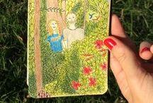 Ilustración. Cuadernos de Petra / Lugares, personajes, objetos, animales, situaciones. Viajes registrados en primera persona. Papel, lápiz, tinta y acuarela en los Cuadernos de Petra.  http://www.zaranda.com.ar/category/cuadernos-de-petra/
