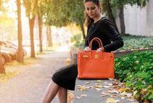 """Hermès Orange Birkin / Sharing some pictures of a true classic - the Hermès Birkin bag in color """"Feu""""."""