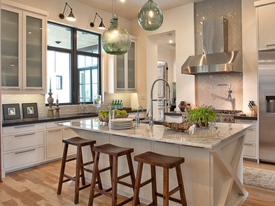 White Grey Kitchen With Pops Of Color On Pinterest White
