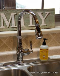 Angie of Postcards from the Ridge installed our Moen Brantford MotionSense faucet in her kitchen. Read about her installation and learn more on her blog. http://www.postcardsfromtheridge.com/2014/03/moen-brantford-kitchen-faucet.html