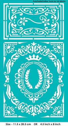 """Stencil Stencils Templates """"Frame Your Art! Frames"""", self-adhesive, flexible, for polymer clay, fabric, wood, glass, card making"""