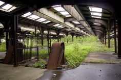 abandoned passenger terminal in Liberty State Park