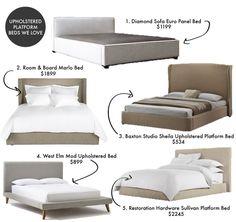 Upholstered Platform Beds We Love