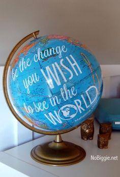 FREE Printable | Graduation Gift Idea from NoBiggie | DIY Globe Quote