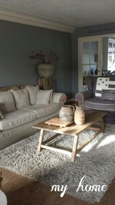 Muur Kleur Inspiratie on Pinterest  Interieur, Taupe and Taupe Walls