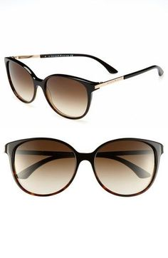 love these kate spade new york 'shawna' 56mm sunglasses in the black & brown tortoise