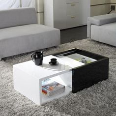Matrix 'Karla' High-gloss Hide-away Storage Coffee Table