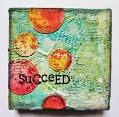 confessions of a craft-a-holic: Succeed 4x4 Canvas - Tattered Angels Paints and Canvas Corp stretched Canvas - perfect combination #tatteredangels #canvascorpbrandscrew #canvascorp #4x4challenge #jainedrake