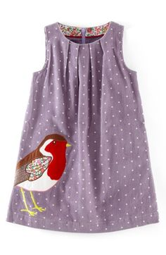 Mini Boden Animal Appliqué Corduroy Dress (Toddler Girls, Little Girls & Big Girls) | Nordstrom
