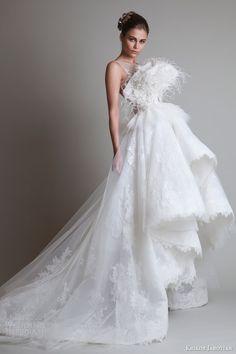 krikor jabotian wedding dresses 2014 sleeveless gown