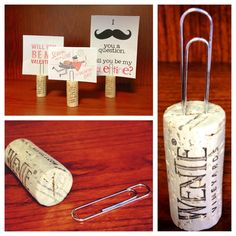 DIY - re-purpose wine corks into place card holders