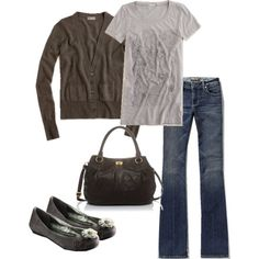 Cute & Comfy! Love the shoes #clothing #style #casual